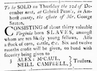 Nov 3 - Virginia Gazette Rind Slavery 2
