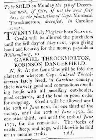 Nov 3 - Virginia Gazette Rind Slavery 3