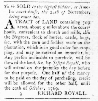 Nov 3 - Virginia Gazette Rind Slavery 5
