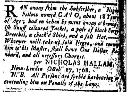 Nov 4 - New-London Gazette Slavery 1