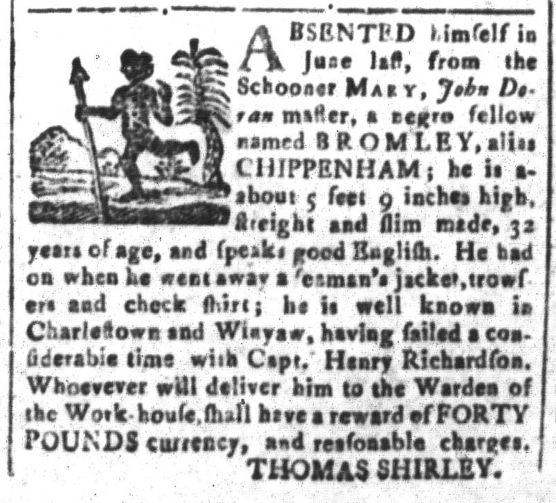 Nov 4 - South-Carolina and American General Gazette Slavery 5