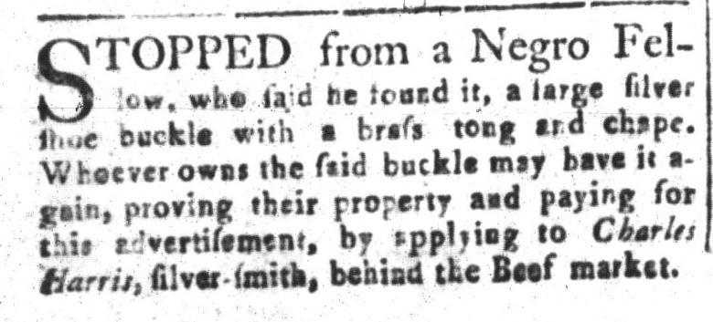 Nov 4 - South-Carolina and American General Gazette Slavery 9