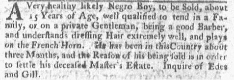 Nov 7 - Boston-Gazette Slavery 2