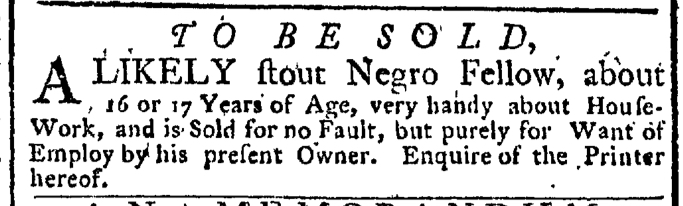 Nov 7 - New-York Gazette Weekly Post-Boy Slavery 1