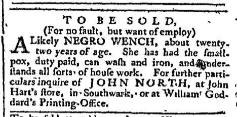 Nov 7 - Pennsylvania Chronicle Slavery 1