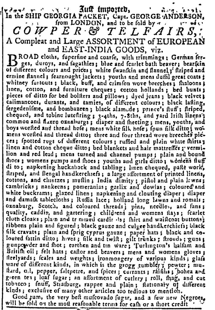 Oct 12 - Georgia Gazette Slavery 6