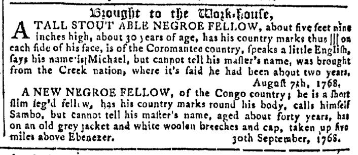 Oct 12 - Georgia Gazette Slavery 7