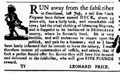 Oct 13 - Virginia Gazette Purdie and Dixon Slavery 8