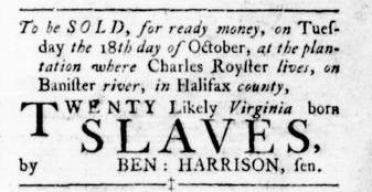 Oct 13 - Virginia Gazette Rind Slavery 7