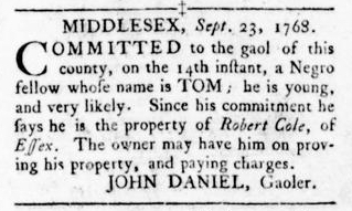 Oct 13 - Virginia Gazette Rind Slavery 8