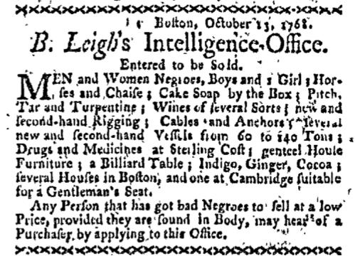 Oct 17 - Boston-Gazette Slavery 1