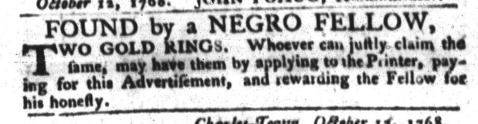 Oct 18 - South-Carolina Gazette and Country Journal Slavery 3
