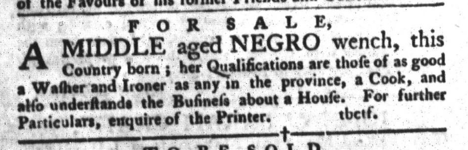 Oct 18 - South-Carolina Gazette and Country Journal Slavery 6