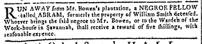 Oct 19 - Georgia Gazette Slavery 2