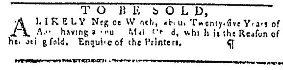 Oct 20 - Pennsylvania Gazette Slavery 1