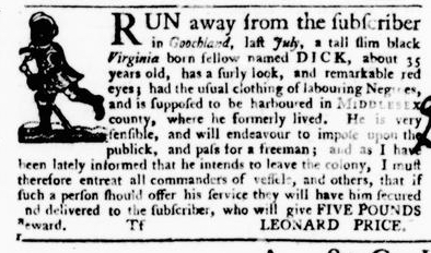 Oct 20 - Virginia Gazette Purdie and Dixon Slavery 11