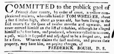 Oct 20 - Virginia Gazette Purdie and Dixon Slavery 3