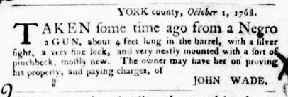 Oct 20 - Virginia Gazette Purdie and Dixon Slavery 7