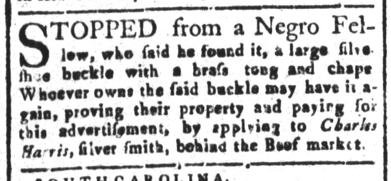 Oct 21 - South-Carolina and American General Gazette Slavery 3