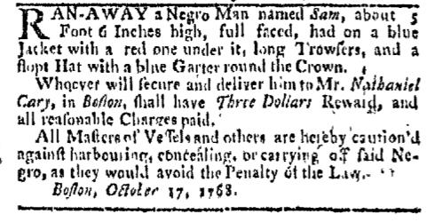 Oct 24 - Boston-Gazette Slavery 1
