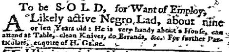 Oct 24 - New-York Gazette Weekly Mercury Supplement Slavery 1
