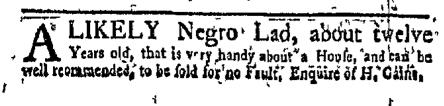 Oct 24 - New-York Gazette Weekly Mercury Supplement Slavery 2