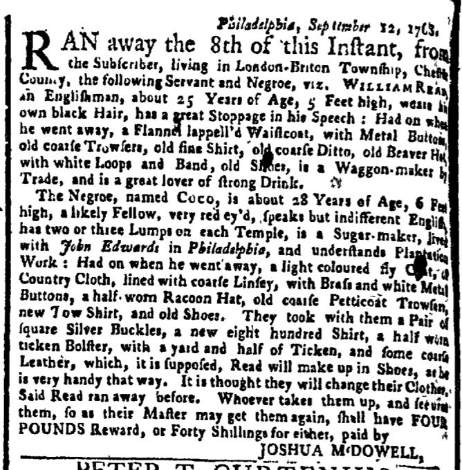 Oct 24 - New-York Gazette Weekly Post-Boy Slavery 1