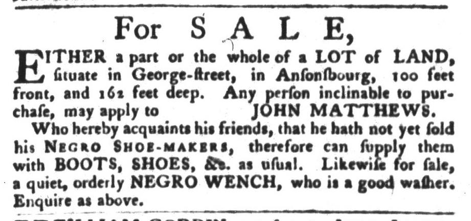 Oct 25 - South-Carolina Gazette and Country Journal Slavery 2