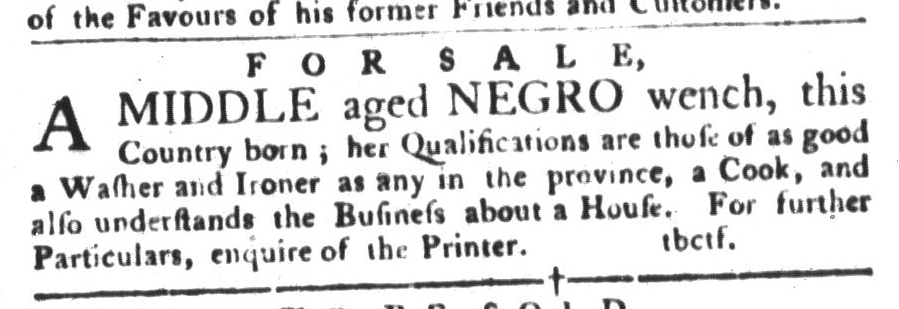 Oct 25 - South-Carolina Gazette and Country Journal Supplement Slavery 2