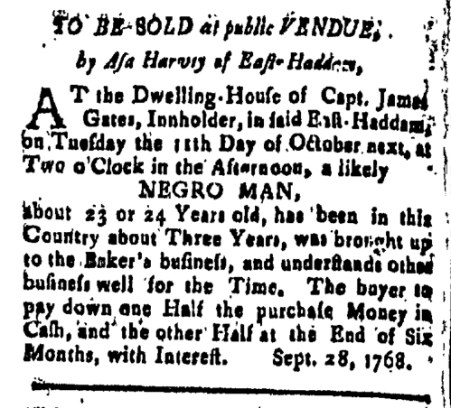 Oct 28 - New-London Gazette Slavery 3