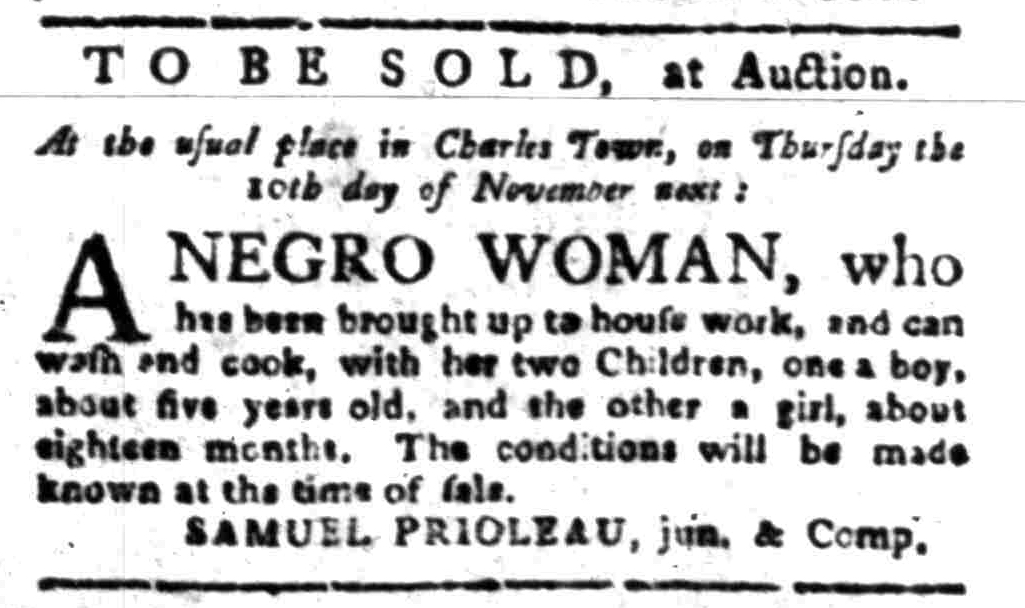 Oct 31 - South-Carolina Gazette Slavery 4
