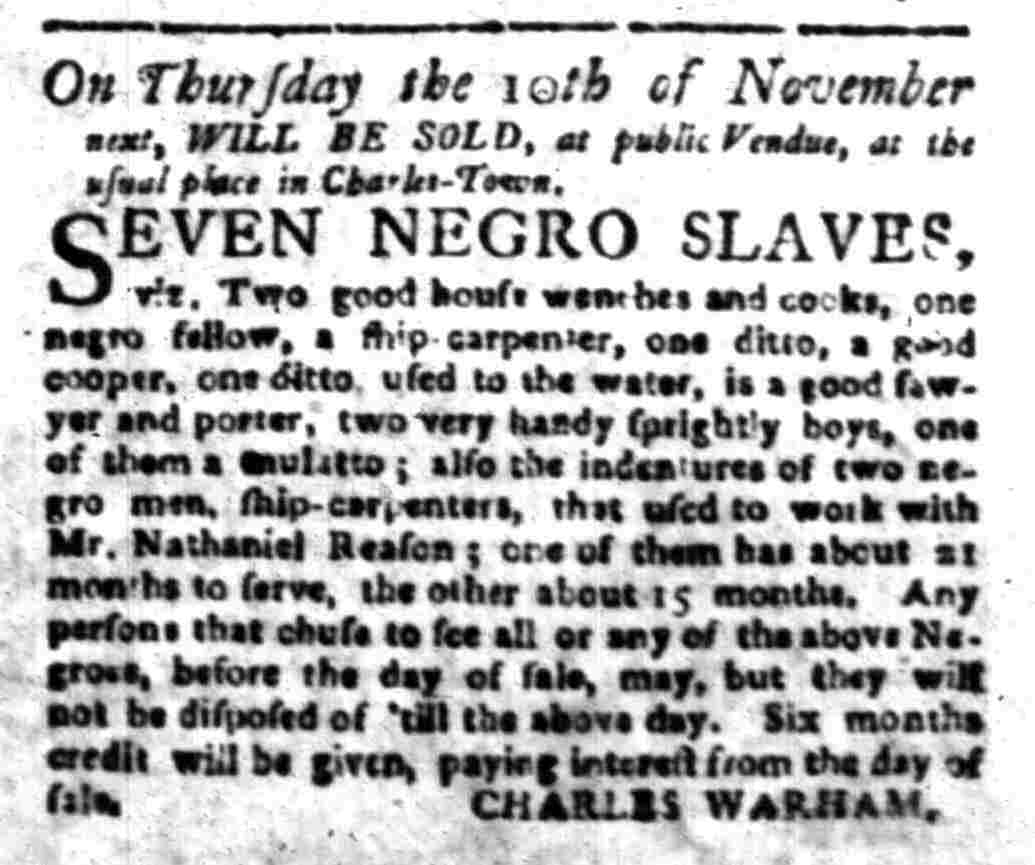 Oct 31 - South-Carolina Gazette Slavery 5