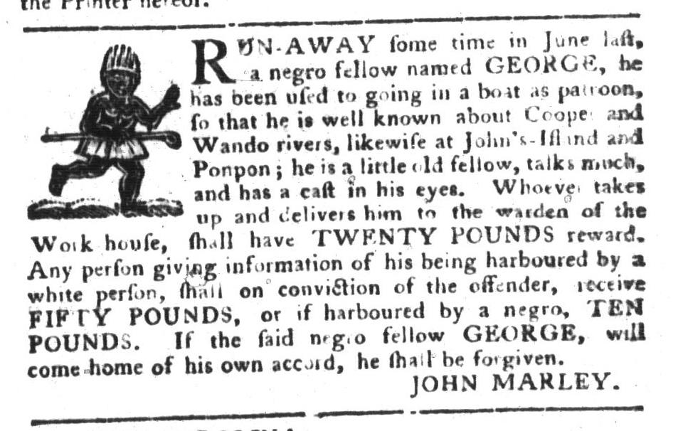 Oct 4 - South-Carolina Gazette and Country Journal Slavery 4