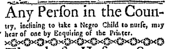 Oct 6 - Boston Weekly News-Letter Slavery 1