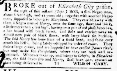 Oct 6 - Virginia Gazette Purdie and Dixon Slavery 8