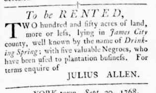 Oct 6 - Virginia Gazette Rind Slavery 4