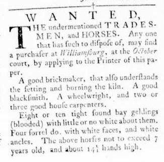 Oct 6 - Virginia Gazette Rind Slavery 5