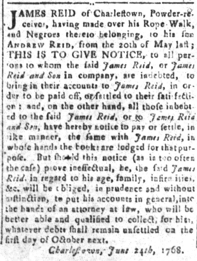 Oct 7 - South-Carolina and American General Gazette Slavery 5