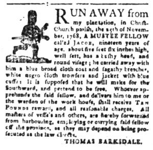 Dec 1 - South-Carolina Gazette Slavery 2