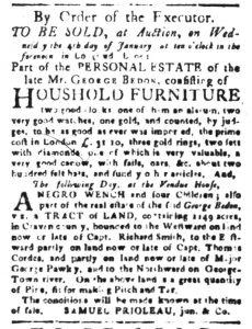 Dec 1 - South-Carolina Gazette Slavery 4