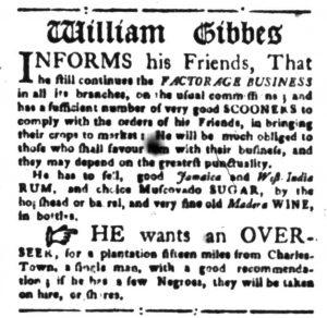 Dec 1 - South-Carolina Gazette Slavery 5