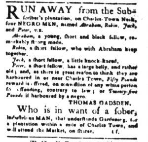 Dec 1 - South-Carolina Gazette Slavery 7
