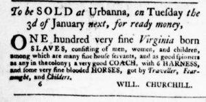 Dec 1 - Virginia Gazette Purdie and Dixon Slavery 5