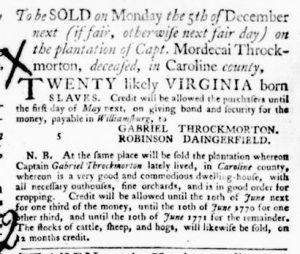 Dec 1 - Virginia Gazette Purdie and Dixon Slavery 8