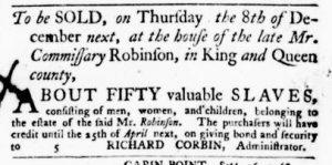 Dec 1 - Virginia Gazette Purdie and Dixon Slavery 9