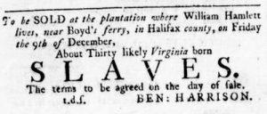 Dec 1 - Virginia Gazette Rind Slavery 11