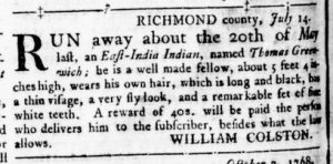 Dec 1 - Virginia Gazette Rind Slavery 14
