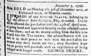 Dec 1 - Virginia Gazette Rind Slavery 5
