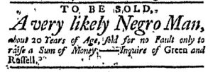 Dec 5 - Massachusetts Gazette Green and Russell Slavery 2
