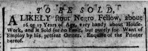 Dec 5 - New-York Gazette Weekly Post-Boy Slavery 1